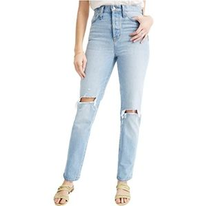 NWT MADEWELL CLASSIC STRAIGHT DISTRESS RIP JEANS